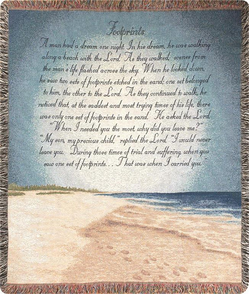 Footprints in the Sand Tapistry Throw