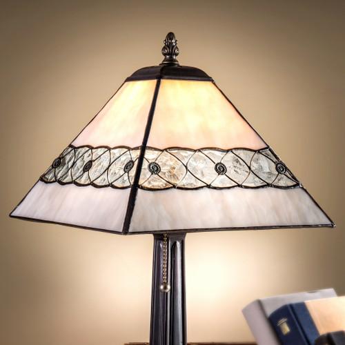 Light Grey Art Glass Table Lamp by J Devlin Glass