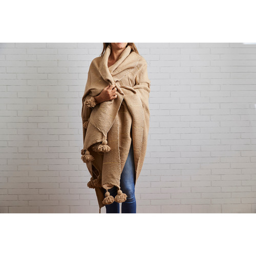 Moroccan Blanket   Camel