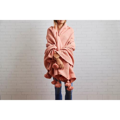 Moroccan Blanket   Pink