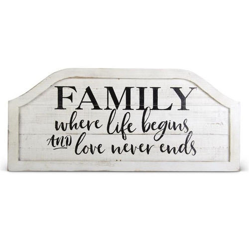 """35"""" Family Where Life Begins... Wall Sign"""