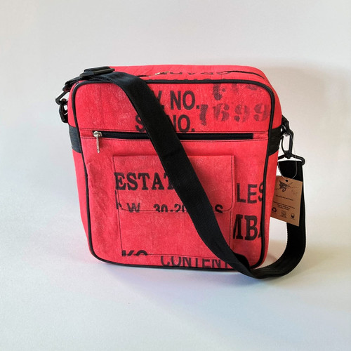 Kuro Cross Body Bag - Made from Tea Shipping Sacks By Kuro Street