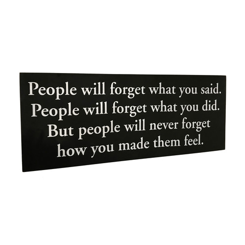 """30"""" People Will Never Forget...~ Wooden Wall Sign"""