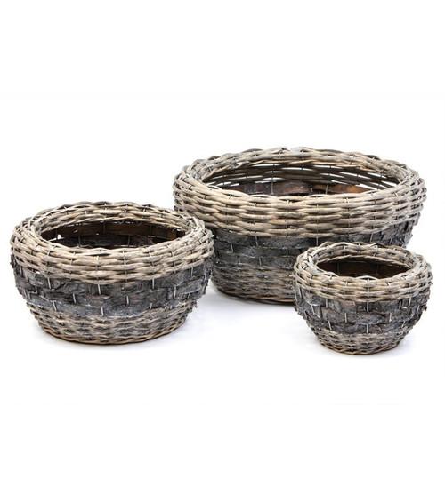 Set of 3, Gray Bowls