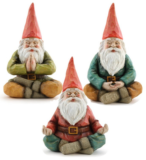 "7.5"" Yoga Pose Gnomes,~ Set of 3 by Napco"
