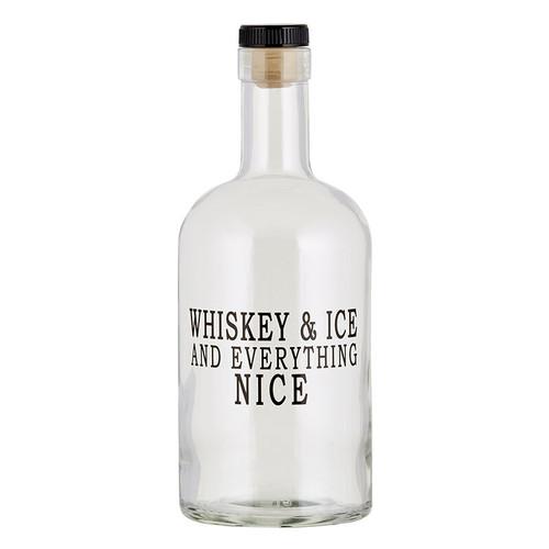 Bourbon Bottle - Whiskey & Ice