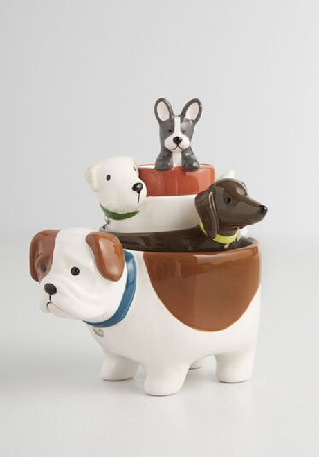 Pawsitively Pawsome Ceramic Measuring Cup Set