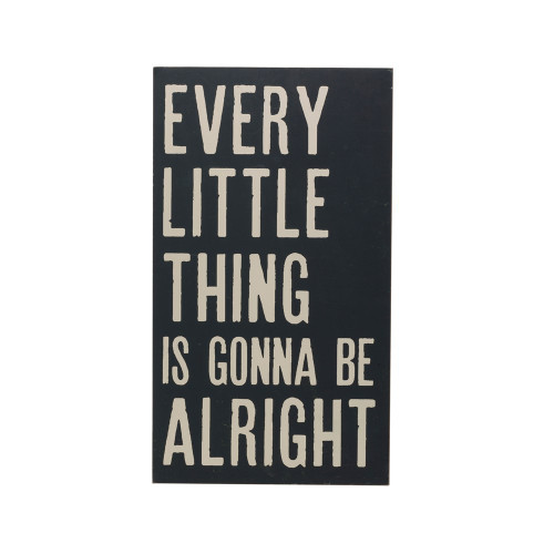 """27"""" Wood Wall Decor """"Every Little Thing Will Be Allright! By Creative Co-op"""