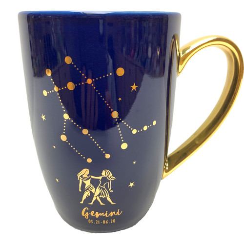 Constellation Zodiac Ceramic Mugs with Decorative Box- Select Your Birthday