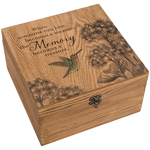 """""""Treasured Memories"""" Keepsake Memory Box"""