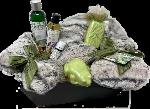 Premium Spa Gift Basket - Eucalyptus by Sonoma Lavender