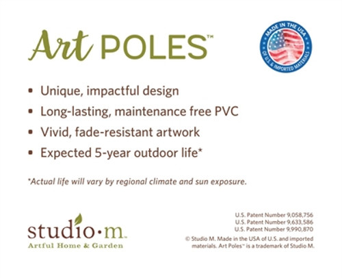 """Floral Welcome 20""""  Art Pole"""