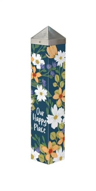 "Our Happy Place   20""  Art Pole"