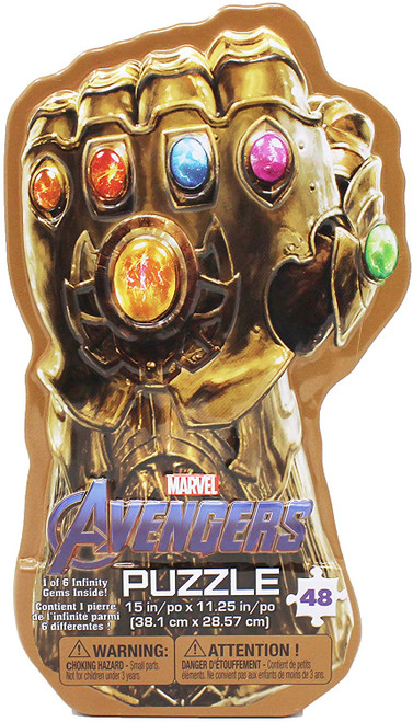 Marvel's Avengers: Infinity War Gauntlet Tin with Surprise Puzzle  ~ Ages 6+