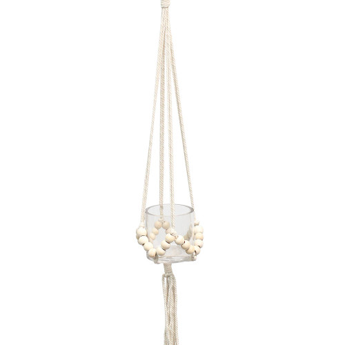 """36"""" Natural Colored Beaded Macramé  Plant Hanger by Soul of the Party"""