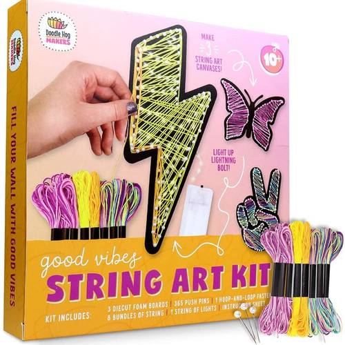 String Art Kit With Lights to Make DIY Wall Decor ~ Ages 8+