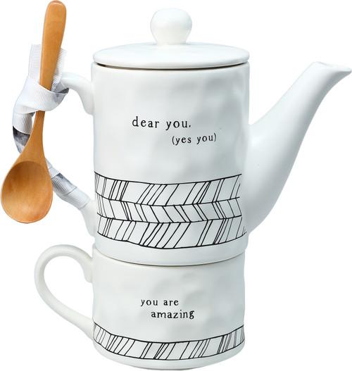 Dear You, Tea for One Tea Set.