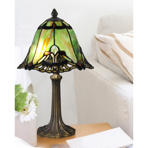 """16"""" Green Haiawa  Accent Lamp by Dale Tiffany"""
