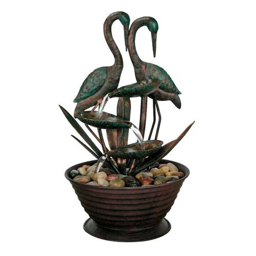 Cranes Tabletop Fountain by Foreside Home & Garden