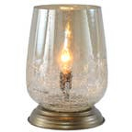 """7.9""""H Eileen Taupe Handblown Glass Shade Accent Table Lamp"""