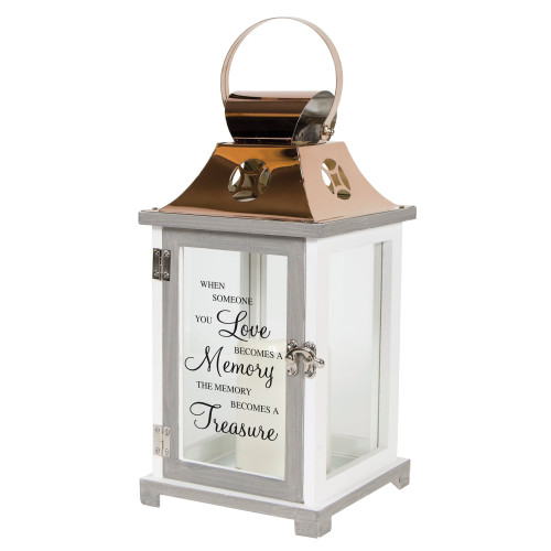 """""""In loving Memory...Treasure"""" Flameless Candle Lantern - By Carson Home Accents"""