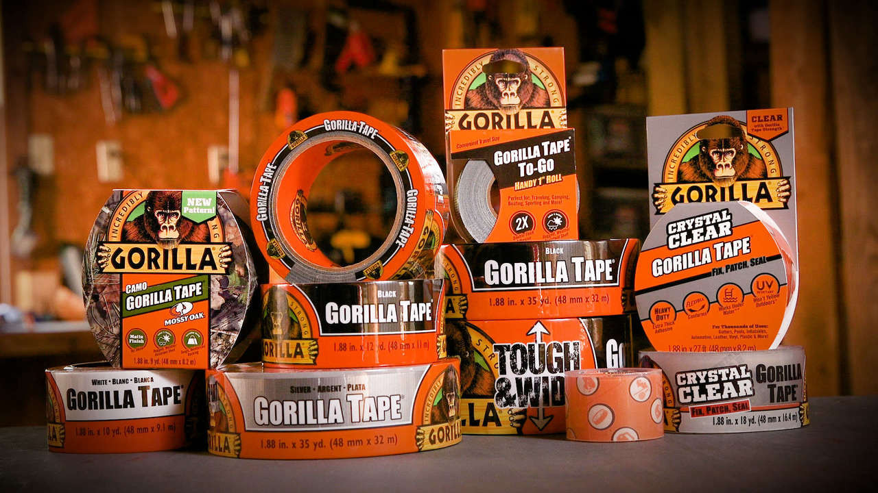 Gorilla Glue 6035180 - Black Tape (35 Yd.) - Tape family of products