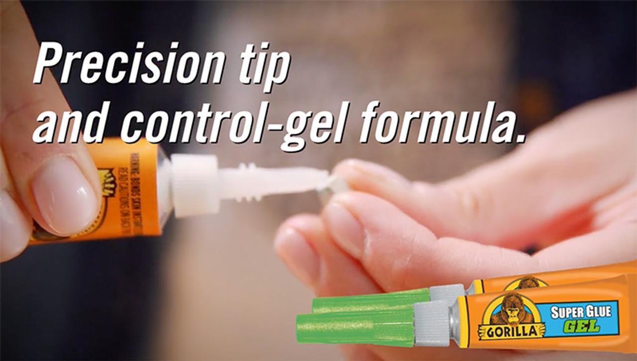 Gorilla Glue 7600103 - Super Glue Gel (15 Gram) - Precision Tip