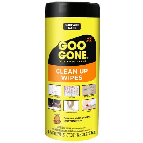 Goo Gone 2000 - Clean Up Wipes, 24 Ct - Front