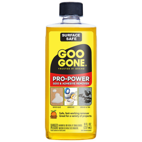 Goo Gone 2037 - Pro-Power Goo & Adhesive Remover PDQ, 8 oz. - Front