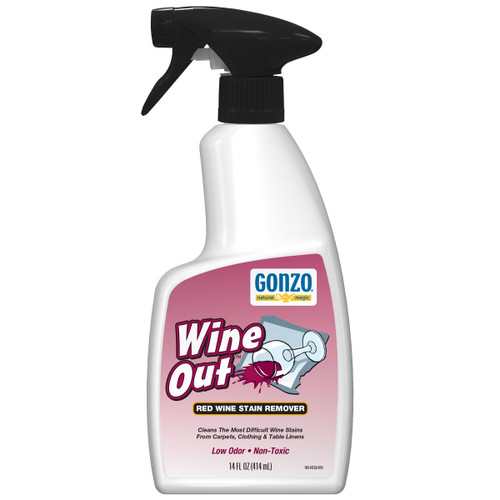 Gonzo 1003 - Natural Magic Wine Out Red Wine Stain Remover, 14 oz. Trigger