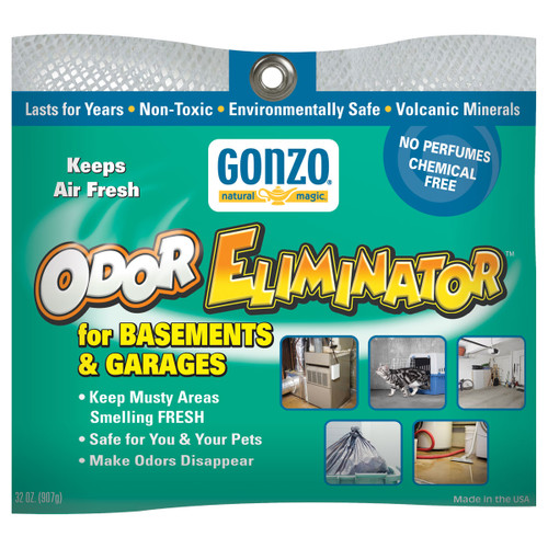 Gonzo 1010D - Natural Magic Odor Eliminator for Basements & Garages 32 oz. - Front