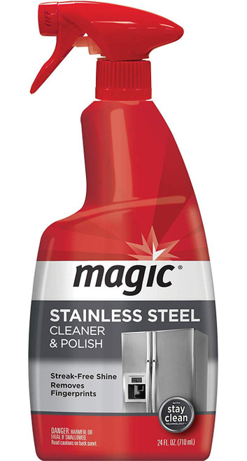 Magic Stainless Steel Cleaner and Polish  - 24 oz. Trigger - Front