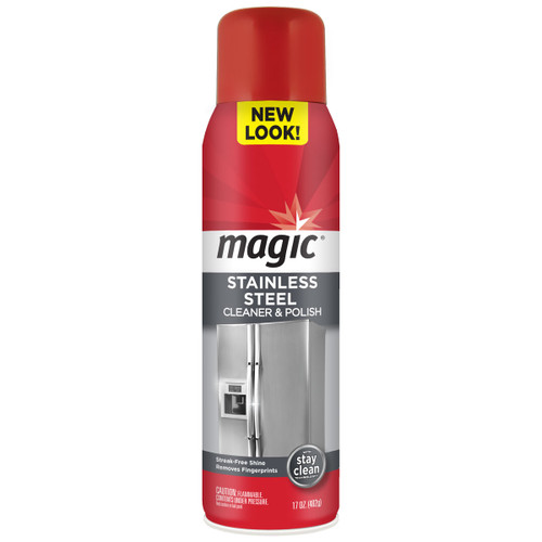 Magic Cleaners 3062 - Stainless Steel Cleaner & Polish, 17 oz. Aerosol