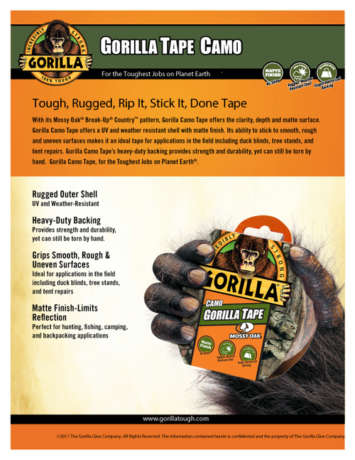 Gorilla Glue 6010902 - Camo Tape (9 Yd.) - Sell Sheet
