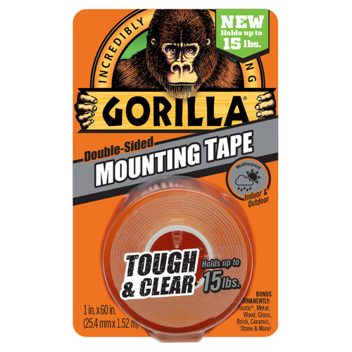 Gorilla Glue 6065003 - Clear Mounting Tape (60 In.)