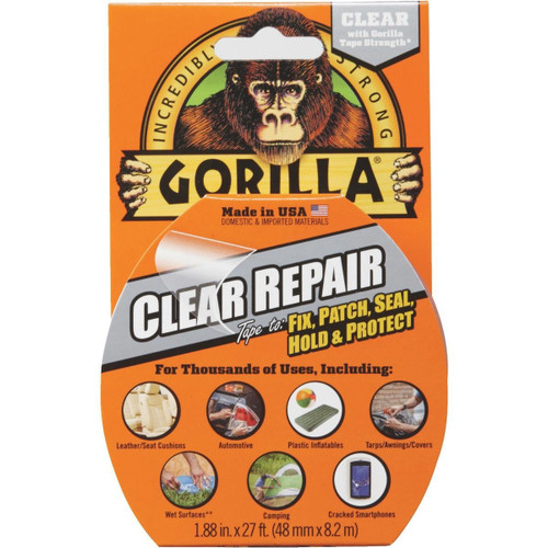 Gorilla Glue 6027002 - Clear Repair Tape (9 Yd)