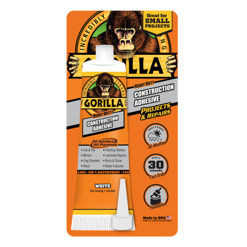 Gorilla Glue 8020002 - Construction Adhesive (2.5 Oz. Tube)