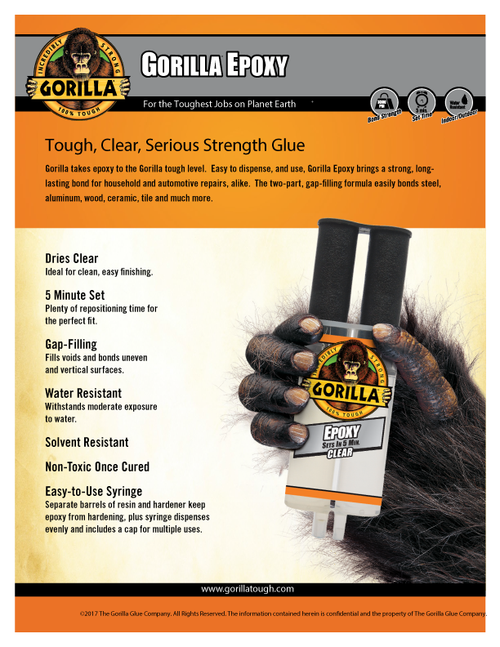Gorilla Glue 4200102 - Epoxy (0.85 Oz.) - Sell Sheet