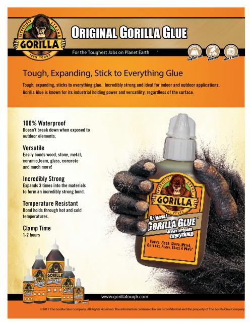 Gorilla Glue 5000504 - Original Glue (3 Gram Mini Tube) - Sell Sheet