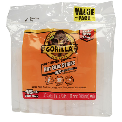 Gorilla Glue 3034502 - Hot Glue 4 In. Full - 45 Ct