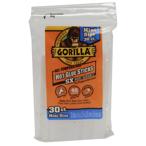 Gorilla Glue 3023003 - Hot Glue 4 In. Mini - 30 Ct