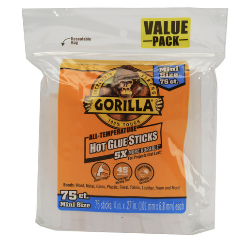 Gorilla Glue 3027502 - Hot Glue 4 In. Mini - 75 Ct