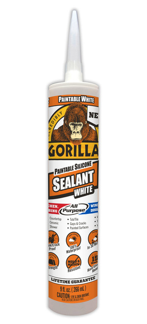 Gorilla Glue 8070002 - Paintable Silicone Sealant (9 Oz. Cartridge)