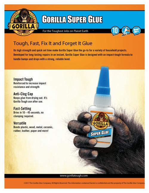 Gorilla Glue 78007 - Super Glue (16 Oz.) - Sell Sheet