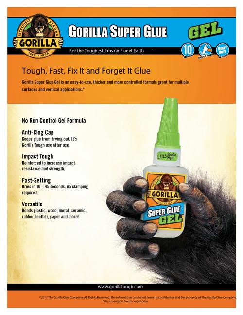 Gorilla Glue 7800101 - Super Glue (3 Gram 2 Pack) - Sell Sheet
