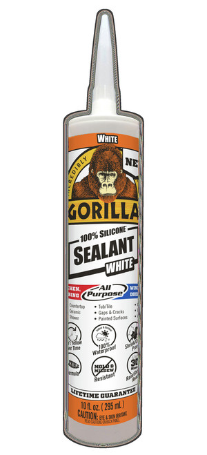 Gorilla Glue 8060002 - White Silicone Sealant (10 Oz. Cartridge)