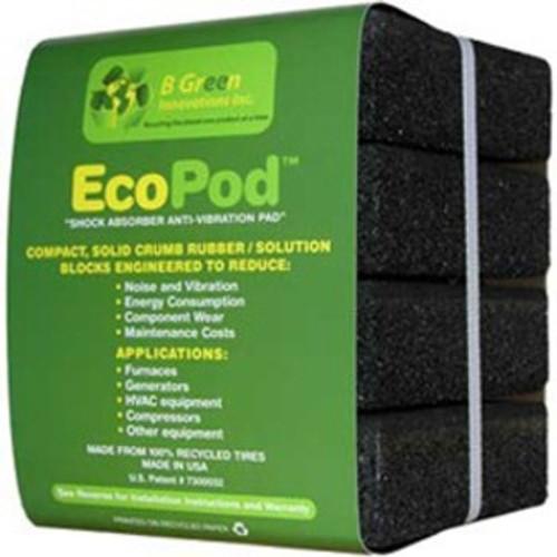 B Green  EP1 - Recycled Rubber Heavy Duty Anti Vibration Pad ECOPAD/ECOPOD