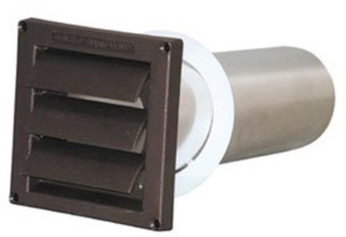 Deflecto SVHAB4 - Brown Sidewall Vent for Exhaust