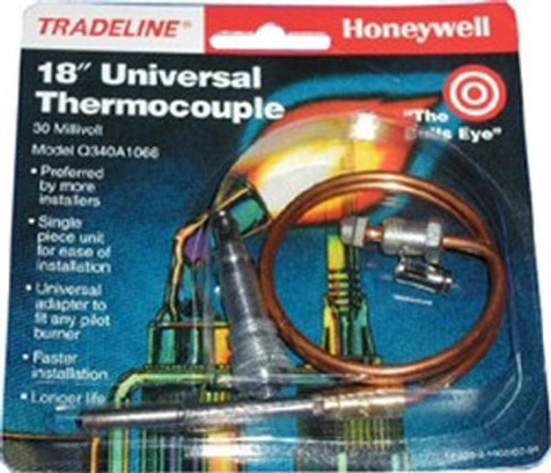 """Robertshaw 1980-018 - 18"""" Universal Thermocouple 1980 Series Snap-Fit"""
