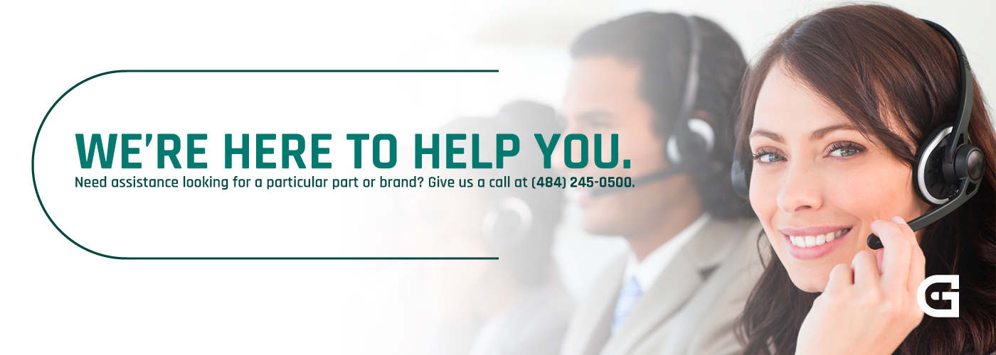 Need help locating a part or a brand not on the website? Give us a call at (484) 245-0500 for assistance.
